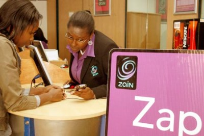 A Zain shop in Nairobi: The company has about 40 million subscribers in Africa.