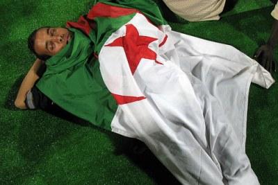 un supporter algérien