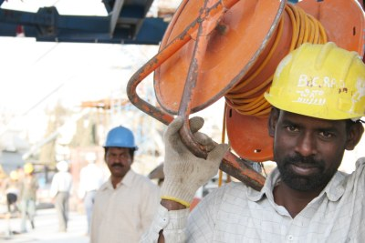 A migrant worker (file photo).