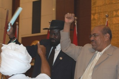 President Omar al-Bashir (right): The president is accused of war crimes, crimes against humanity and genocide committed in Darfur.