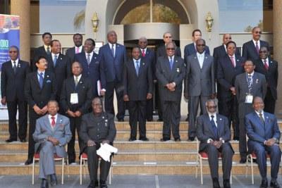 Les Chefs d'Etats et de Gouvernement de la SADC  à Windhoek en Namibie