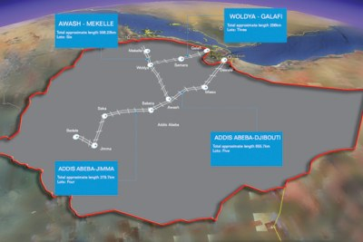 Part of the Growth and Transformation Plan (GTP), the new railway designs are to connect some of the major cities of Ethiopia.