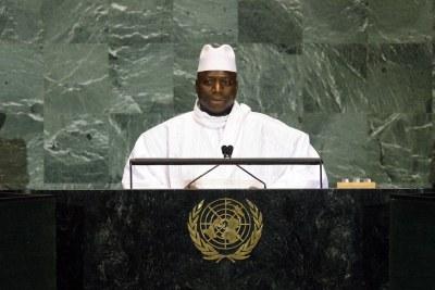Le président gambien Yayah Jammeh.