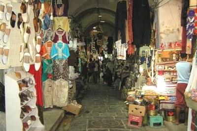 Un marché en Tunisie.