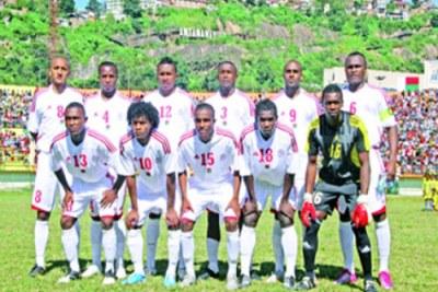 Les Barea avant le match contre la Guinée
