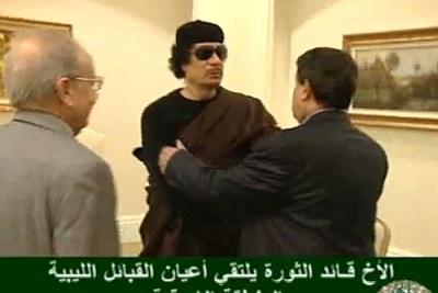 Le colonel Mouammar Kadhafi