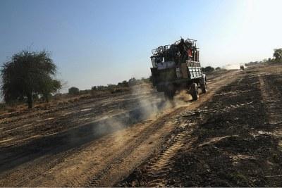 Des migrants retournant au Sud-Soudan