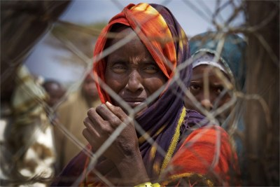 Newly arrived refugees from Somalia wait to be registered at Dagehaley camp, one of three camps that make up the Dadaab refugee camp in north eastern Kenya (file photo).