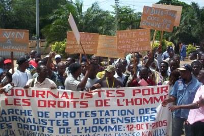 Marches des journalistes et activistes des droits de l'homme au Togo.