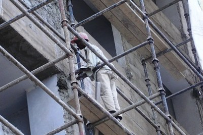 Some workers are injured in construction works due to bad working conditions