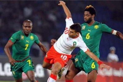Cameroon players in action