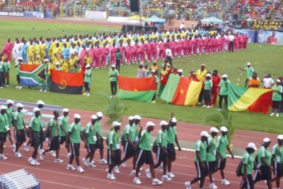 Ouverture des 18émes championnats d'Afrique d'athlétisme à Porto Novo au Bénin