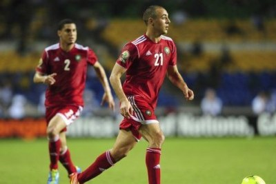 Morocco players in action