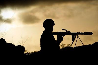 AMISOM Troops up at dawn on Mogadishu's frontline.
