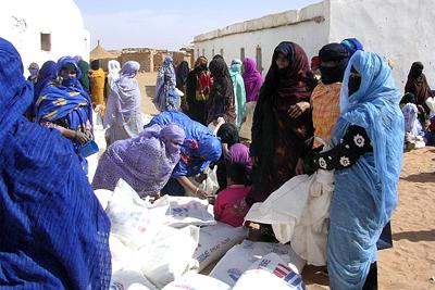 Saharawi refugees.