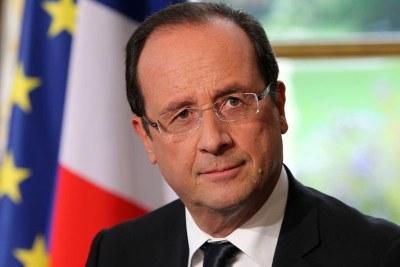 François Hollande, le président de la France, lors d'une interview avec des médias français le 11 octobre 2012