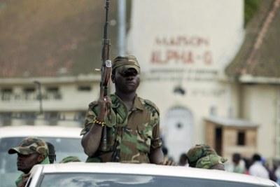 Des troupes du M23 en fraction à Goma, en RDC.