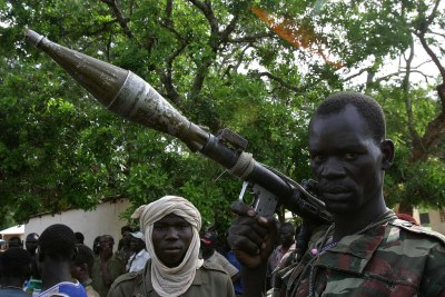 Rebels in Central African Republic (file photo)..