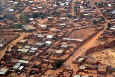La ville de Niamey vue du ciel