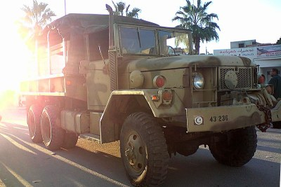 Tunisian army vehicle.