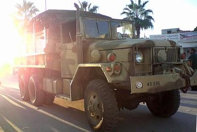 Véhicule de l'armée tunisienne.