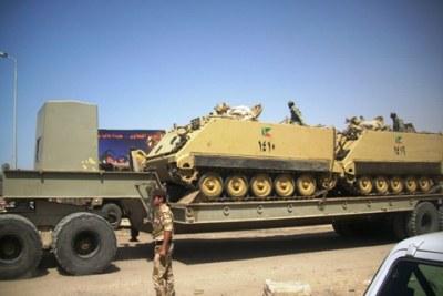 Egyptian army deploys security reinforcements to Sinai (file photo)