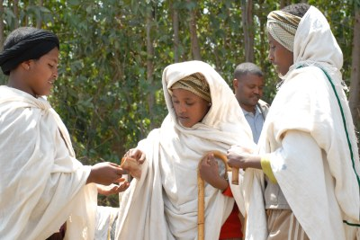 Role playing by participants in the Berhane Hewan project in Amhara, Ethiopia. The girls are highlighting how decisions, such as whom and when they will marry, are made about their lives without their consent (file photo).