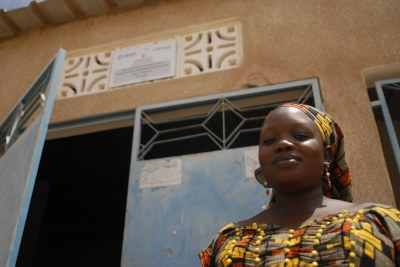Community health worker Awa Diagne volunteers in her village in Senegal.