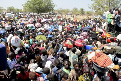 Thousands of civilians have been killed and uprooted in South Sudan, like these civilians who sought refuge at a compound of the United Nations Mission near Bor.