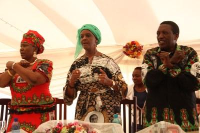 From left, Zanu-PF's Opah Muchinguri, Grace Mugabe and Absolom Sikhosana.