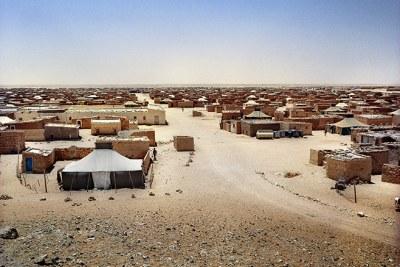 Un camp de réfugié saharoui près de Tindouf, en Algérie.