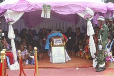Les obsèques du colonel Mamadou Moustafa Ndala, tué dans une embuscade à Beni (Nord-Kivu).