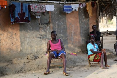Listening to Ebola awareness lectures, the people in the village are scared (file photo).