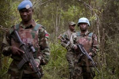 PicasaPatrouille mixte des casques bleus de la Monusco et des Forces armées de la RDC dans la province du Nord-Kivu.