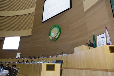 Carlos Lopes, secrétaire exécutif de la Commission économique pour l'Afrique au dernier sommet de l'UA.