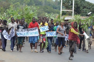 Protesters in Burundi oppose a third term for President Pierre Nkurunziza.