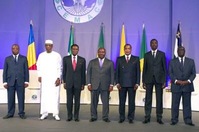 Les chefs d'États membres de la Communauté économique et monétaire de l'Afrique centrale (CEMAC)