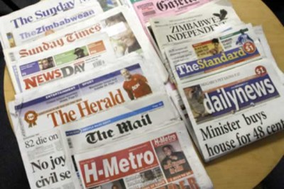 Zimbabwe major news papers.