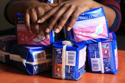 May girls routinely skip up to a week of school every month because they don't have sanitary pads.(file photo).