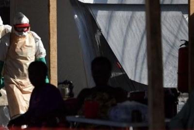 Des malades atteints d'ebola