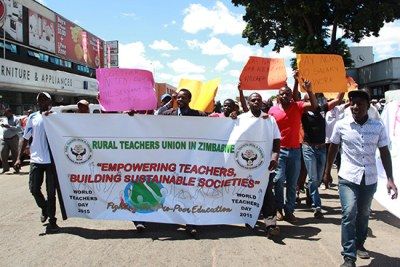 Teacher's strike (file photo).