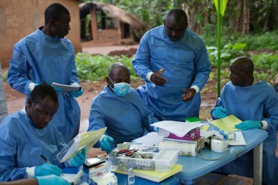 An Ebola medical team in Liberia (file photo).