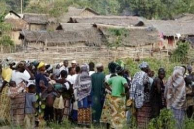 Des réfugiés ivoiriens au Ghana