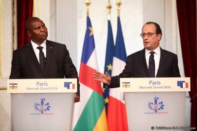 French President and President Faustin-Archange Touadéra of CAR.