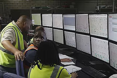 Inside the Medupi coal-fired power plant, South Africa