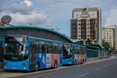 Dar es Salaam Rapid Transit (BRT) buses.