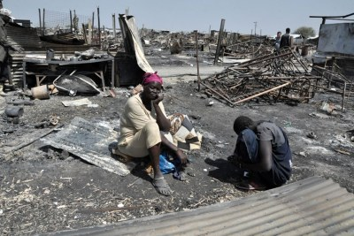 Displaced women (file photo).