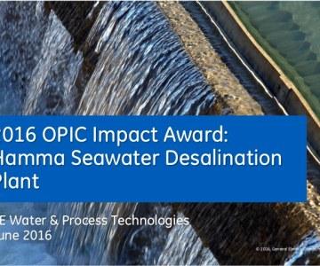 2016 OPIC Impact Award: Hamma Seawater Desalination Plant   Algeria