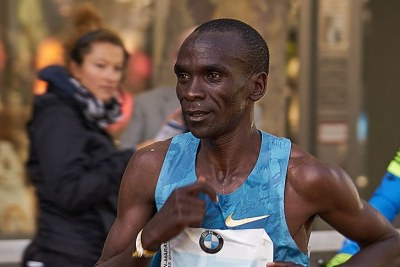 Eliud Kipchoge in the 2015 Berlin Marathon (file photo).