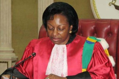 Marie-Madeleine Mborantsuo Constitutional Court president.